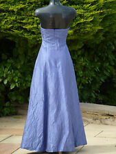 Monsoon Blue Crinkle Maxi Dress Size 10 Wedding PROM Party Ball Cruise Ball
