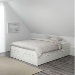 IKEA Bett BRIMNES 140x200 mit Lattenrost, weiß