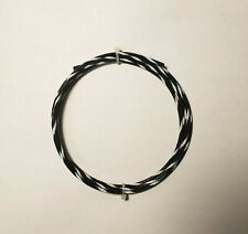 14 Awg Blackwhite Mil Spec Wire Type E Ptfe Stranded Silver Plated 25 Ft