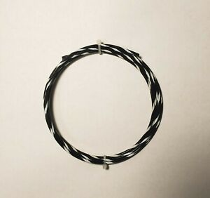14 AWG  Black/White Mil-Spec Wire Type E,  (PTFE) Stranded Silver Plated, 25 ft
