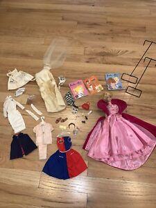 Original Vintage 1958 Bubblecut Strawberry Blonde Barbie Doll plus accessories