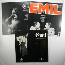 Lot of 3 EMIL Swiss German Comedian Comedy Vinyl Records NM 1970's