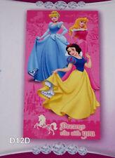 Disney Princess Wishes Pink Printed Velour Beach Towel 75cm x 150cm New