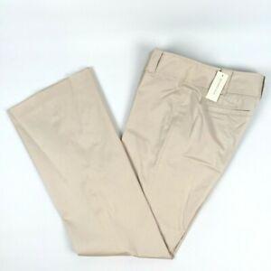 Ann Taylor Women's Size 4 Lindsay Dress Pants Beige Stretch Flared Trouser NWT