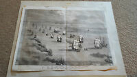 1855 Print. Departure of the Baltic Fleet Spithead.Illustrated London News