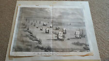1855 Stampa. partenza della Flotta del Baltico Spithead. Illustrated London News