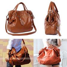 Große Tasche Damentasche Handtasche Stofftasche Schultertasche braun DE Stock