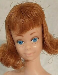 Vintage Barbie friend MIDGE titian straight leg Mattel 1960s