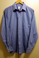 BMW Men's Long Sleeve Light Blue Shirt 39-40 Button Down 100% Cotton