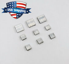 9pcs Silver Aluminum Heat Sink Cooling Kit For Raspberry Pi Adhesive Backing