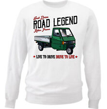 Ape Piaggio Green Vintage - COTTON WHITE SWEATSHIRT ALL SIZES IN STOCK
