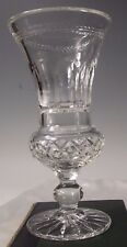 LA MAISON France French Large CRYSTAL FOOTED VASE 9.5""