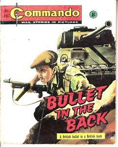 COMMANDO COMIC - No 191   BULLET IN THE BACK