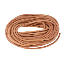 11 yds 3mm Dia Round Leather Roll Cowhide Leather Cord For Lacing, Beading