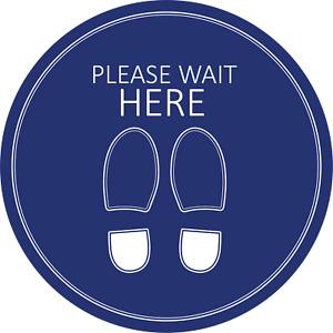 Social Distancing Floor Sticker/Decals - Anti Slip, Please Wait Here Stickers 2