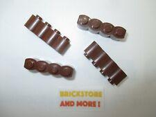 4x Brique Brick Modified 1x4 4x1 log 30137 Reddish Brown//Marron//Braun Lego