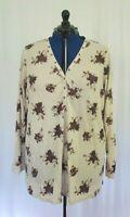Torrid Floral 1/3 Button-up Shirt Blouse Plus Size 5X