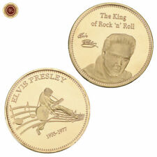 WR Elvis Presley Gold Foil Clad Coin Commemorative Music Fan Gift for Collection