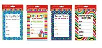 PARTY INVITATIONS + ENVELOPES Birthday Celebration Note Invite Kids Children Fun