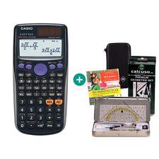 Casio FX 85 GT Plus Schwarz Taschenrechner + Schutztasche GeometrieSet Lern-CD