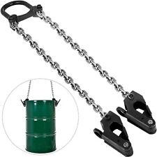 2000 lbs Chain Drum Lifter Black Fiber Lift V Bridle Chain Sling