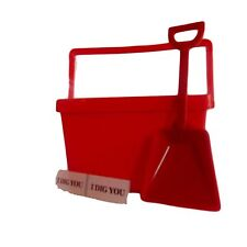 1 Red  Kid's Tote, Shovel, 2 I Dig You Stickers, Made USA Lead Free Food Safe