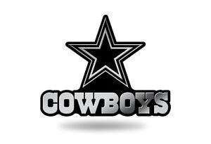 Dallas Cowboys Plastic Chrome 3D Emblem Automotive Car Truck Vehicle NFL NWT