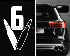 V6 Bullets Bumper Sticker Vinyl Decal Label Muscle Car Decal For Mustang Camaro