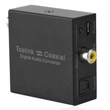 Digital 2-Way Audio Converter SPDIF Optical Toslink / Coaxial Splitter Adapter