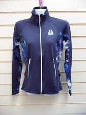 LADIES JACKET BLUE TRACK TOP SIZE XS LIPSY LONDON ABSTRACT DETAIL BNWT