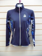LIPSY LONDON JACKET BLUE TRACK TOP SIZE XS ABSTRACT DETAIL CASUAL (G021