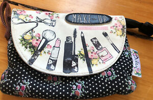 Ditsy by Disaster Designs Adorable Mixed Fabric Makeup Bag Clutch 🇬🇧 UK- VGC