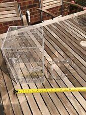 Crestie Jungle Small Reptile Acrylic Enclosure with Corner Feeding Ledge