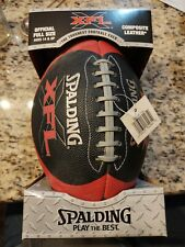 Spalding XFL Official Full Size Composite Leather Football WWE WWF 2000