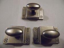 New, Metal, Dull Nickel, Cabinet, Dresser, Desk, Drawer/Door Latch Pull/Knobs