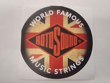"Rotosound Sticker 3"" paper circle World Famous Music Strings"
