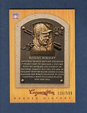 #42 Rogers Hornsby, Cardinals~Cubs~Giants #126/599 | Panini Bronze Hof History