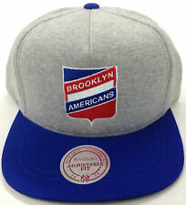 NHL Brooklyn Americans Mitchell and Ness Snapback Hat Vintage Fleece Cap M&N NEW