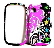 Color Whirl Flower Rubberized Cover Case for Samsung Messager Touch R630 / R631
