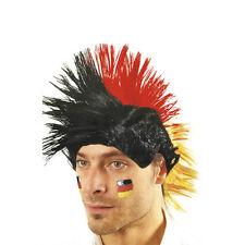 Irokesen-Perücke Pelo Sintético Negro Rojo Oro Alemania Germany 60645