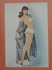 BERTHET. Pin-Up 3. EO 1995 avec Ex-Libris Fantasmagories n° et signé