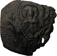 Andronicus II, Palaeologus and Michael IX Byzantine Coin Virgin Orans  i30712