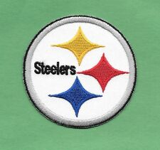 """New Pittsburgh Steelers 'Round' 2 1/2  """" Iron on Patch Free Shipping"""