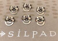 Silpada 'Happy Backs' Earring Backings-Set Of 6 Sterling Silver Backs P3193 NEW!