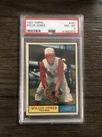 1961 Topps Willie Jones PSA 8 #497 NM - MT