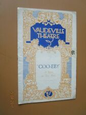 More details for 1929 vaudeville theatre coo ee cooee stanley holloway dorothy dickson programme