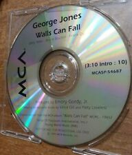 Walls Can Fall - George Jones (Radio Promo Cd Single, 1992, MCA Records)