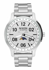 **BRAND NEW** NIXON WATCH THE ASCENDER ALL SILVER A12081920 NEW IN BOX!