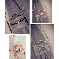 Transparent Stylish PVC Purse Clear Handbag Tote Fashion Shoulder Crossbody Bag