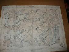 CARTINA GEOGRAFICA DI MONTAGNA HINTERRHEIN 1892 DITTA ARTARIA SACCHI BLATT 505